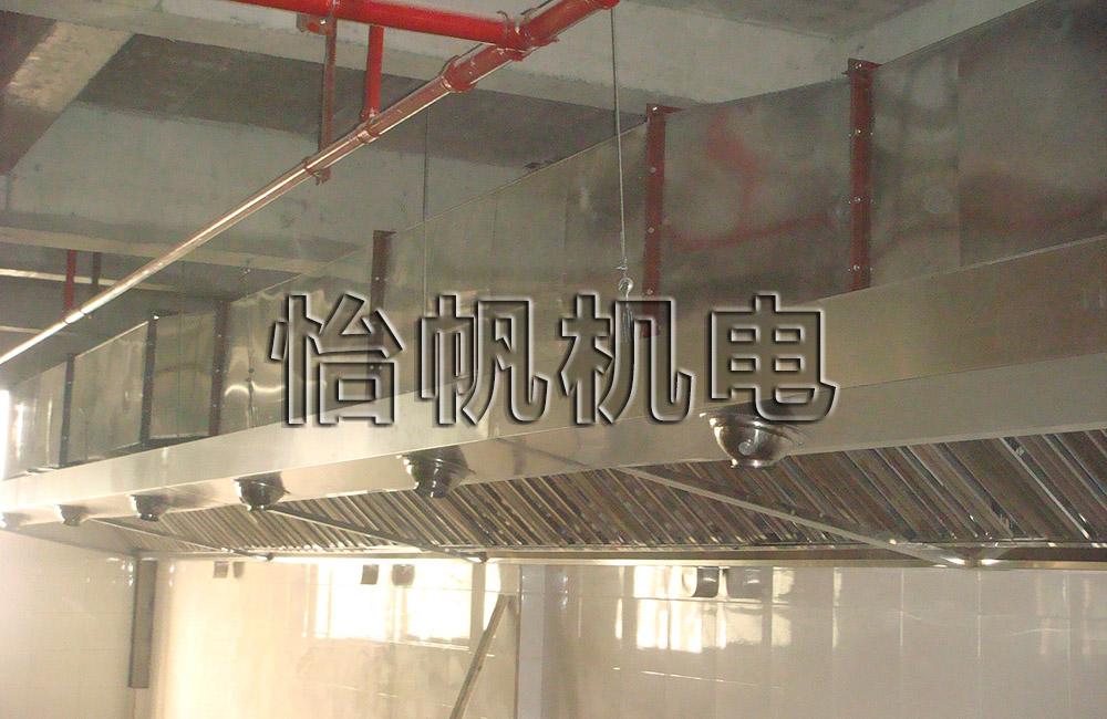 火鍋店排煙系統,安裝排煙管道,風機,油煙凈化器,根據店面面積設計